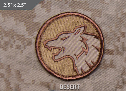 Wolf Head Morale Patch - Desert