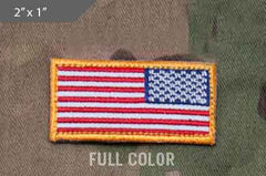 US Flag Mini Morale Patch - Reversed