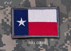 Texas Flag Morale Patch - Full Color