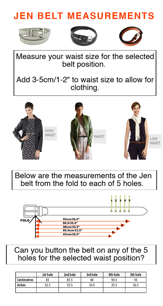 link to sizing guide for jen belt