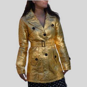 Trench Coat Sustainable Pineapple Leaf Leather 'Katrina'