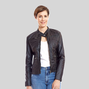 Biker Vegan Leather Jacket 'Bonnie'
