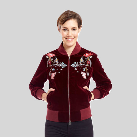 Bomber Vegan Jacket Velvet 'Molly'