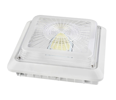 LED GARAGE CANOPY LIGHT 55W - 6,672 LUMENS UL & DLC PREMIUM - 5 YEAR WARRANTY
