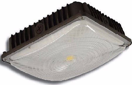 LED ULTRA THIN CANOPY BROWN 45W - 5,136 LUMENS UL & DLC Listed - 5 YEAR WARRANTY
