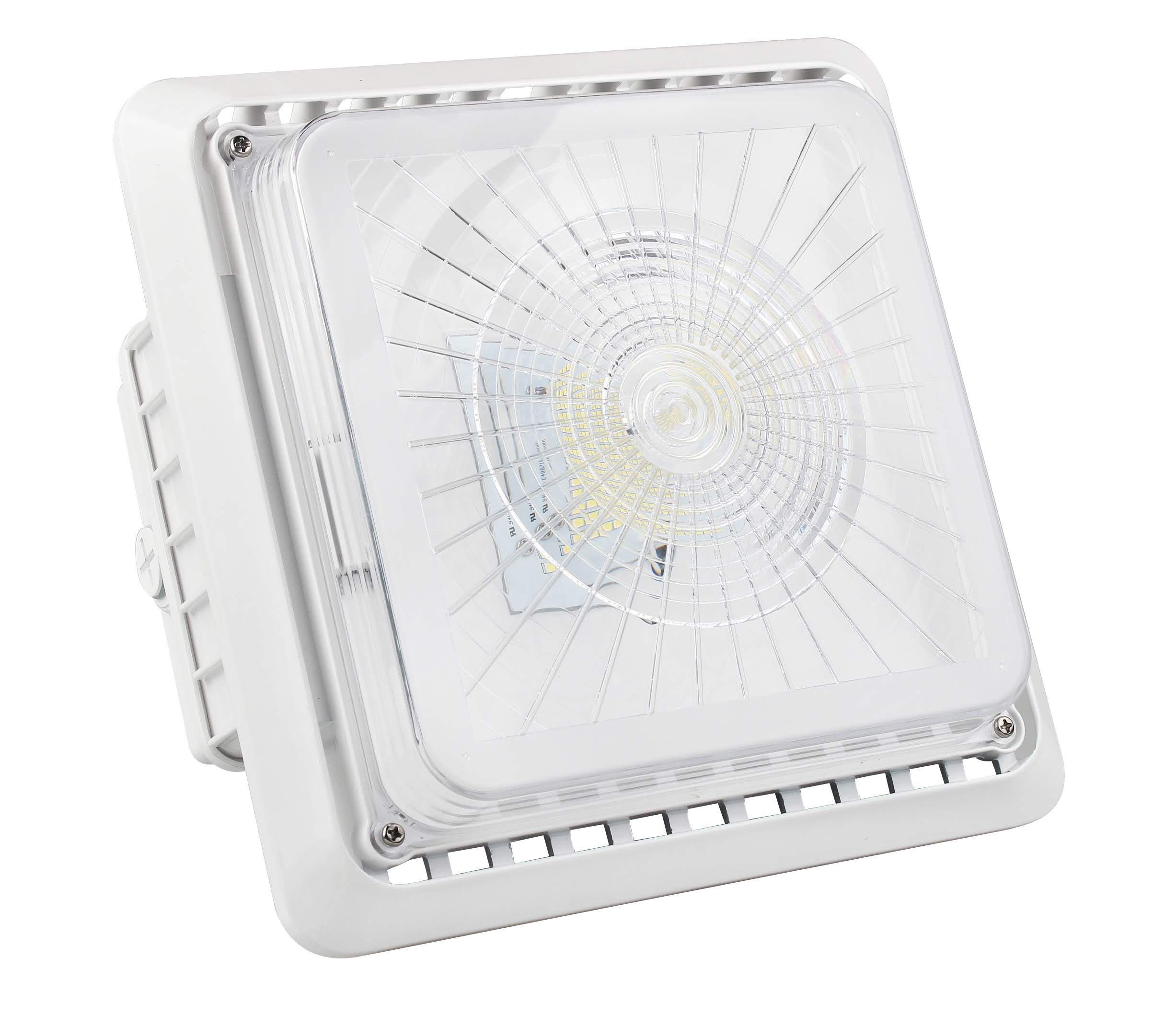 LED GARAGE CANOPY LIGHT 75W - 8,768 LUMENS UL & DLC PREMIUM - 5 YEAR WARRANTY
