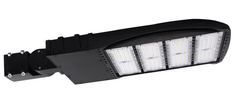 LED PARKING POLE FIXTURE 300W - 40,521 LUMENS UL & DLC Listed - 7 YEAR WARRANTY (SLIPFITTER, ARM MOUNT)