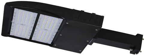 LED PARKING POLE FIXTURE 240W - 30,671 LUMENS UL & DLC Premium - 7 YEAR WARRANTY (SLIPFITTER, ARM MOUNT)
