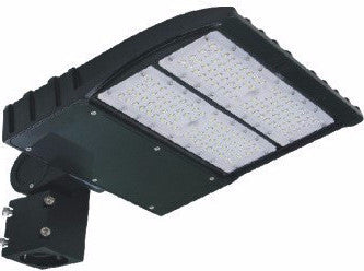 LED PARKING POLE FIXTURE 150W - 19,589 LUMENS UL & DLC Listed - 7 YEAR WARRANTY (SLIPFITTER, ARM MOUNT, TRUNNION)