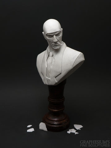 The Spy (Team Fortress 2, TF2), Hand-made stone sculpture (statue/bust) by Graphesium (gsculpt)