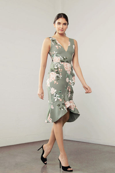 SHILLA- ENCHANT FLORA RUFFLE DRESS