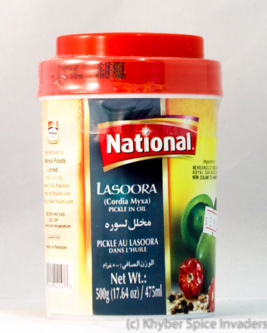 NATIONAL LASOORA PICKLE 500GM
