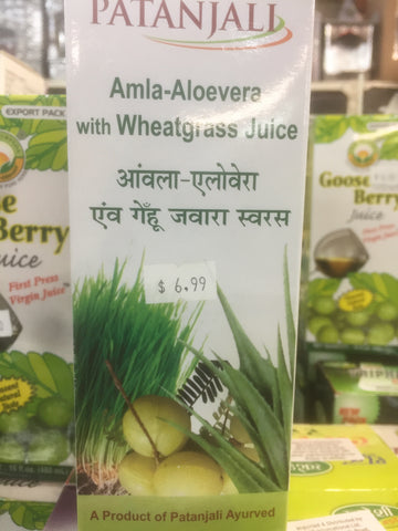 Patanjali Amla alovera with Wheat1ltr