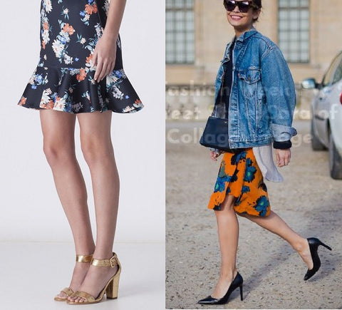 Floral skirts Paris Fashion Week French Kiss