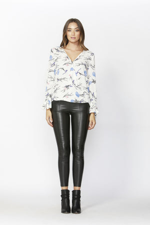 Birds in the Night wrap blouse by SASS