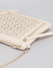 Blush Convertible Chain Clutch
