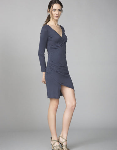 Dangerous Curves Dress - Muted Navy