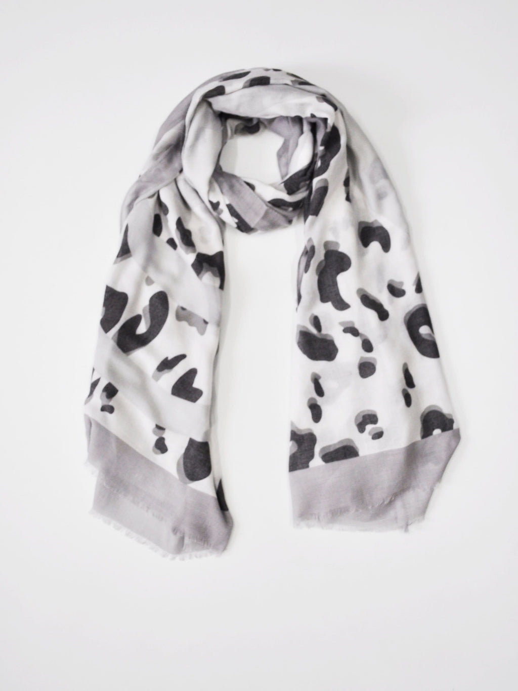 Grey Leopard Print Scarf by Angels Whisper