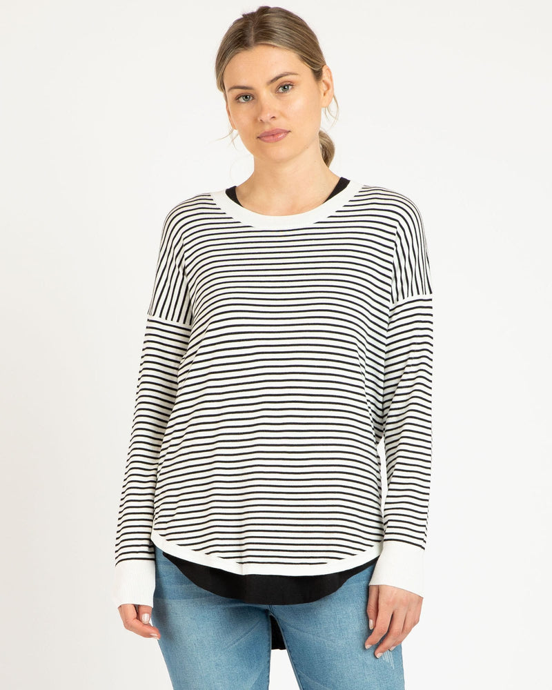 Betty Basics Sophie Knit Sweater - Stripe