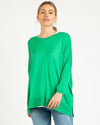 Betty Basics Macy Knit Sweater - Green