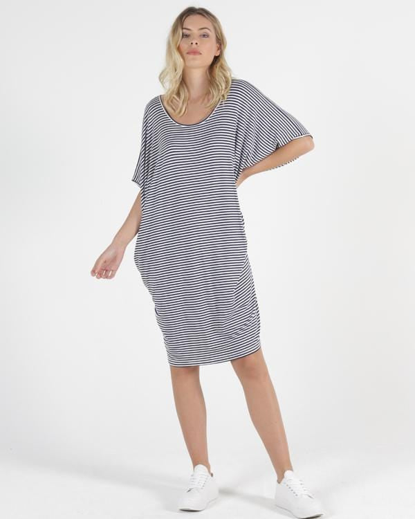 Maui Dress by Betty Basics -  Stripe PREORDER DUE JULY