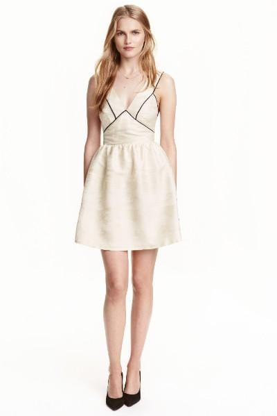 HM Cream Jacquard Dress