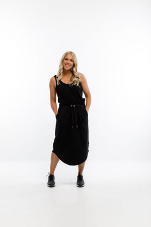 Home-Lee Midi Skirt - Matte Black X