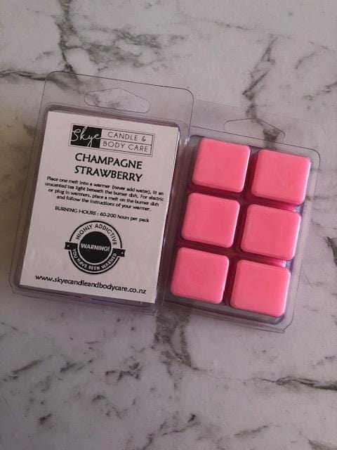 Soy Wax Melts by Skye Candle and Body Care - Champagne Strawberry