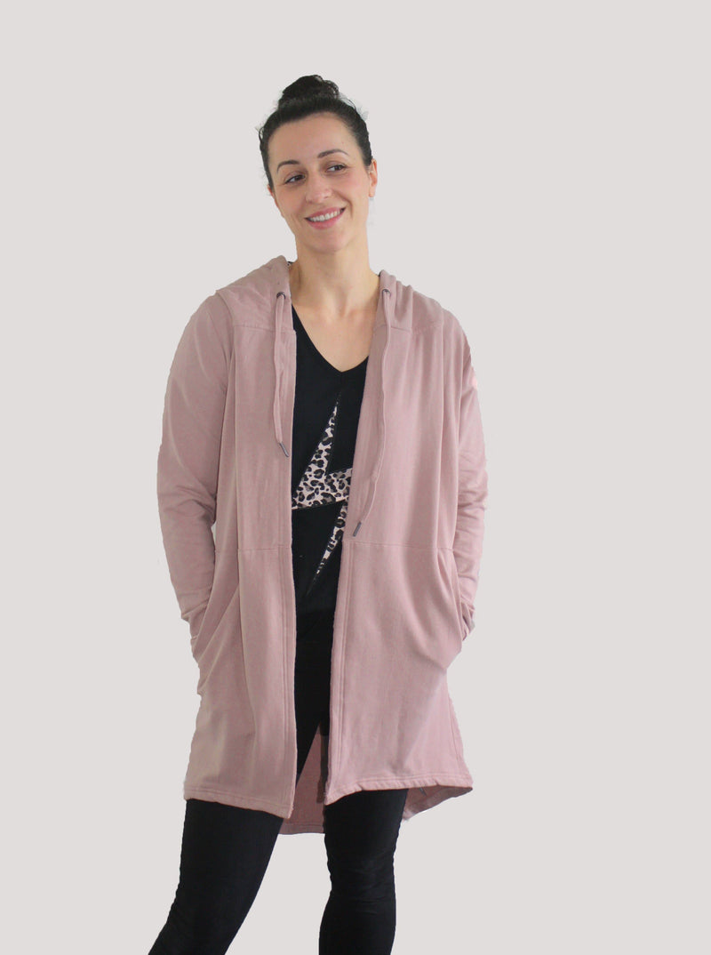 Little White Lie Lane Hooded Cardi - Pink