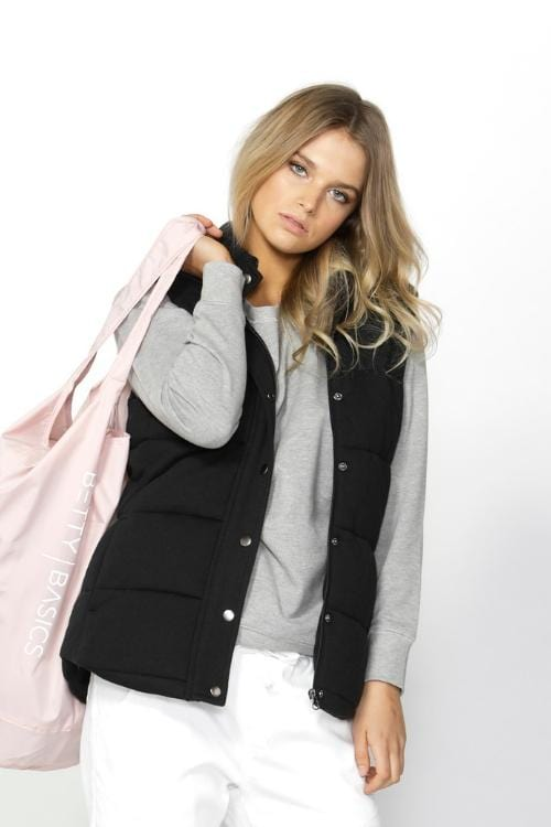 BETTY BASICS Jagger Vest - Black ONLY 2 LEFT IN STOCK