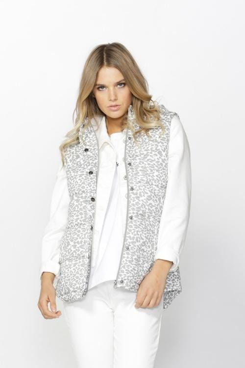 BETTY BASICS Jagger Vest - Leopard