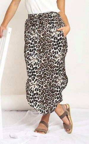 Monica Skirt by White Closet - Black and White Leopard Print PREORDER