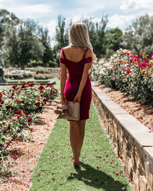 SNDYS Jules Dress - Burgundy Red