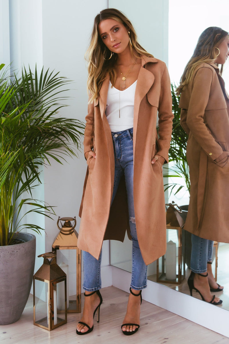 Solomon vegan suede coat