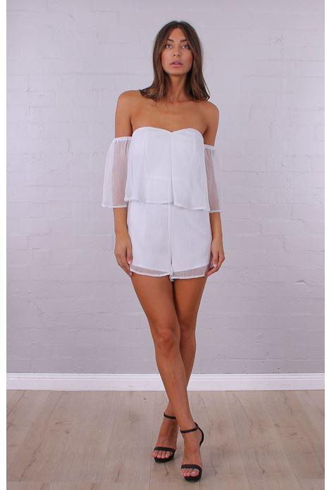 Ivy League Playsuit - White