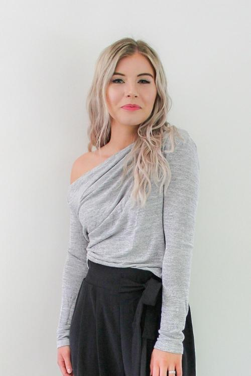 Back to basics top - Grey Marle