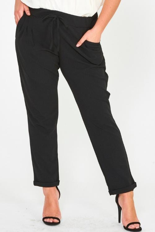 Work It Pants, Black - Curvy