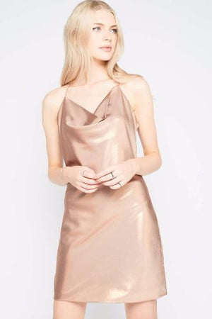 Miss Selfridge Gold Slinky Party Dress