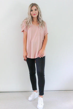 Basics Tee by Label of Love - Blush