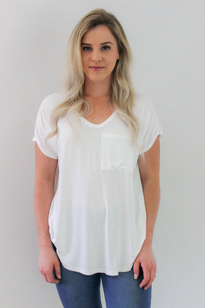 Label of Love Basics tee | White | French Kiss Boutique NZ