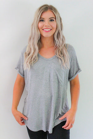 Basics Tee - Grey | Label of Love | French Kiss Boutique NZ