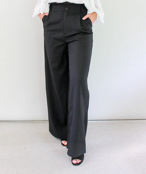 Rose Bullet Anna Pants - Black