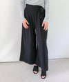 Celeste Paper Bag Culotte Pants - Black