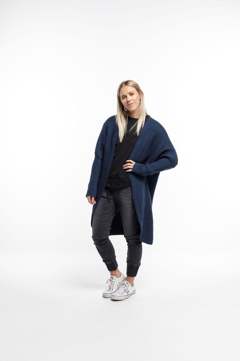 Home-Lee Chunky Knit Cardi - Navy