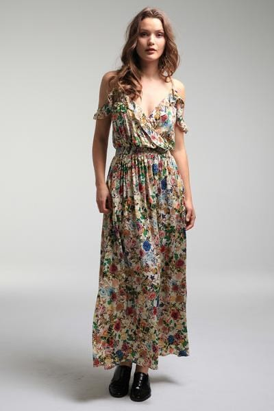 Isabella Boho Slip Dress - Mini Floral Print