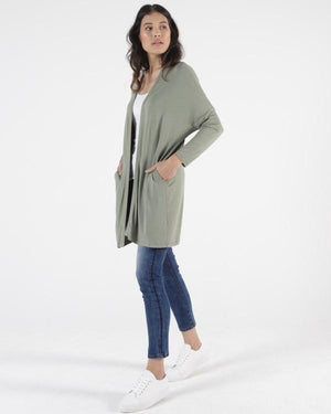 Betty Basics Como Cardi - Avocado