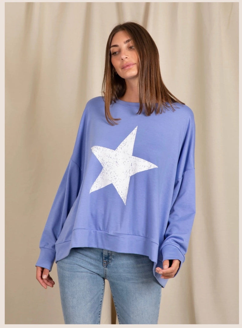 Love Lily The Label Sadie Sweater - Blue
