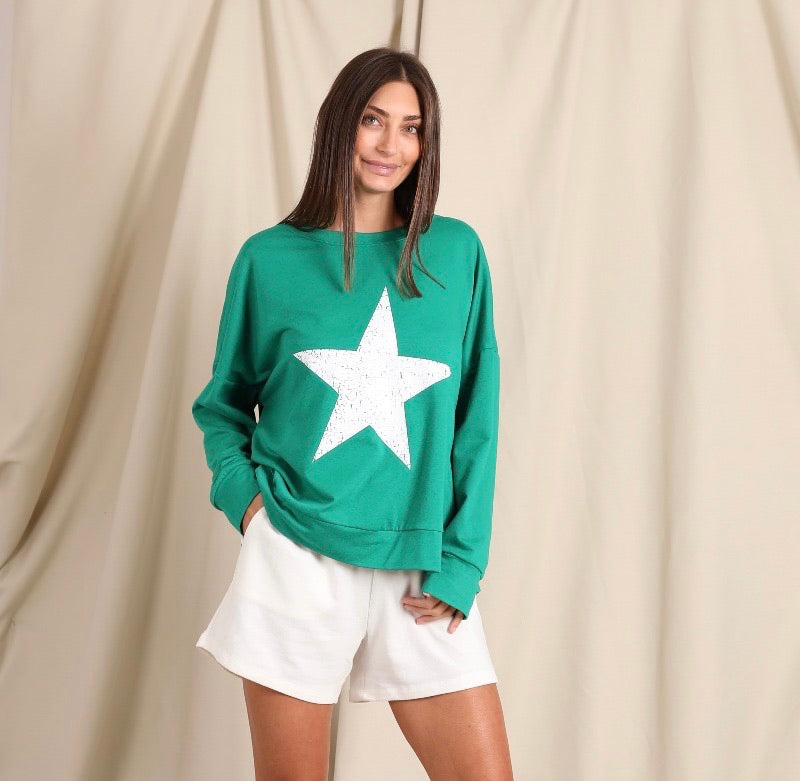 Love Lily The Label Sadie Sweater - Green