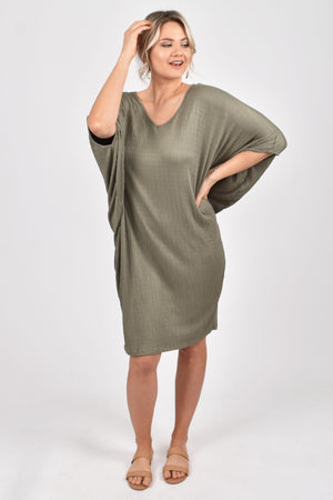 PQ Collection Miracle Dress - Textured Green