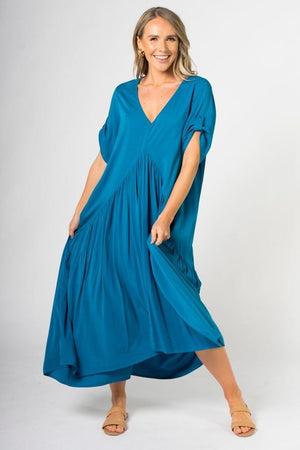 PQ Collection Peak Maxi Dress - Marine Teal
